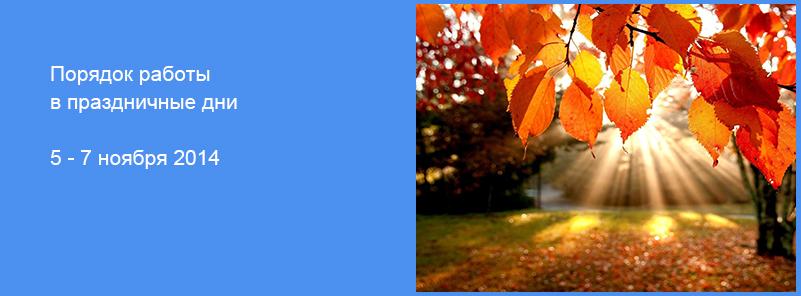Порядок работы в праздничные дни 5-7 ноября 2014 - EVVA KABA TITAN