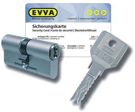 EVVA 3KS Защита от вскрытия и взлома
