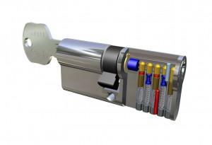 Устройство цилиндра DOM-TITAN K1