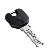 Ключ EVVA 3KS с пластиковой головкой черного цвета