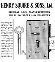 Реклама Henry Squire and Sons 1920 года
